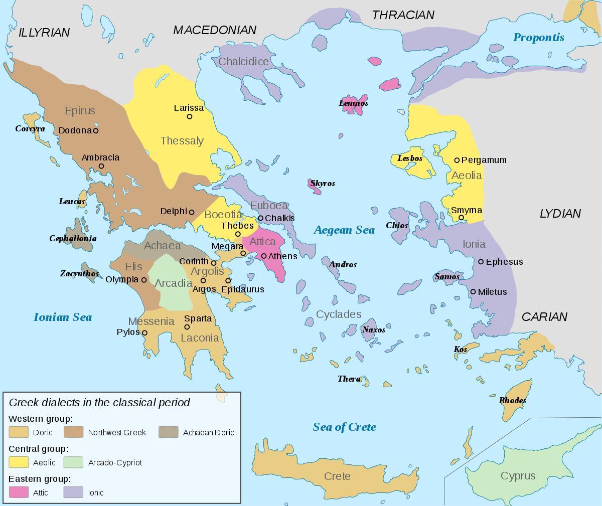 kart over det gamle hellas Det gamle Hellas kart Ionia   Ionia antikkens Hellas kart (Sør  kart over det gamle hellas