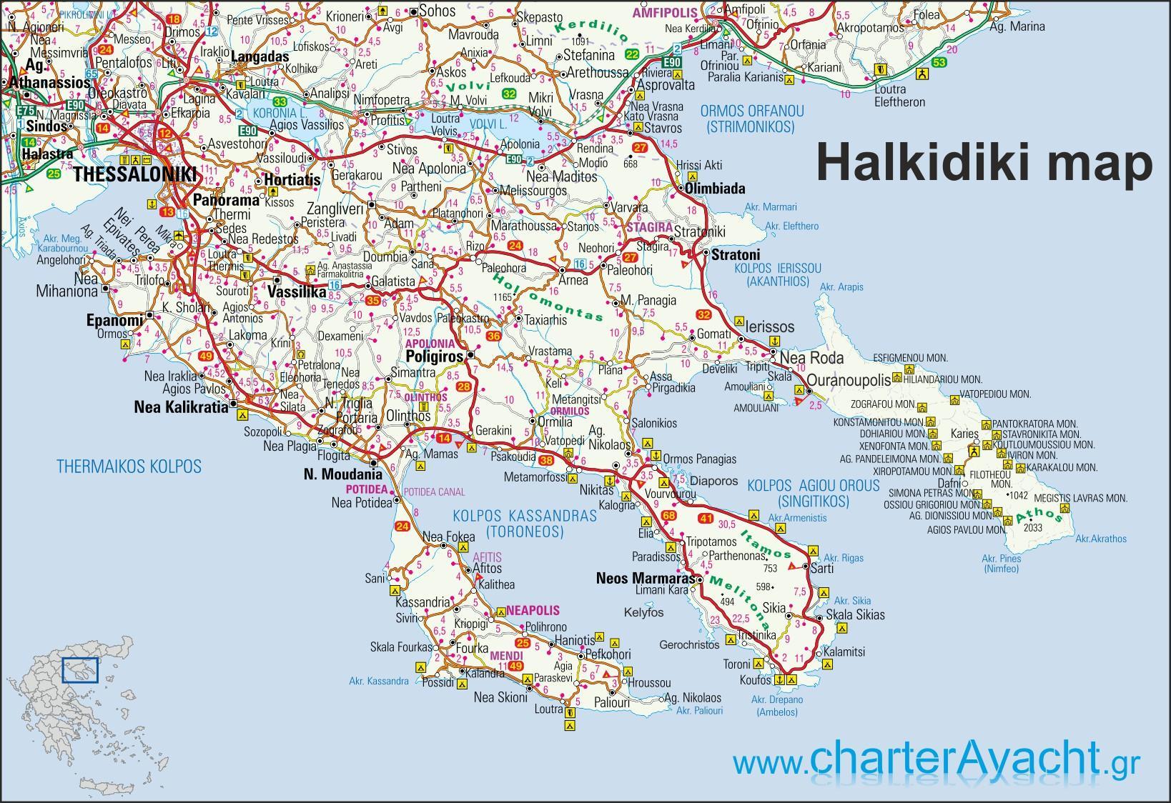 hellas kart Halkidiki, Hellas kart   Kart over Hellas Halkidiki (Sør Europa  hellas kart