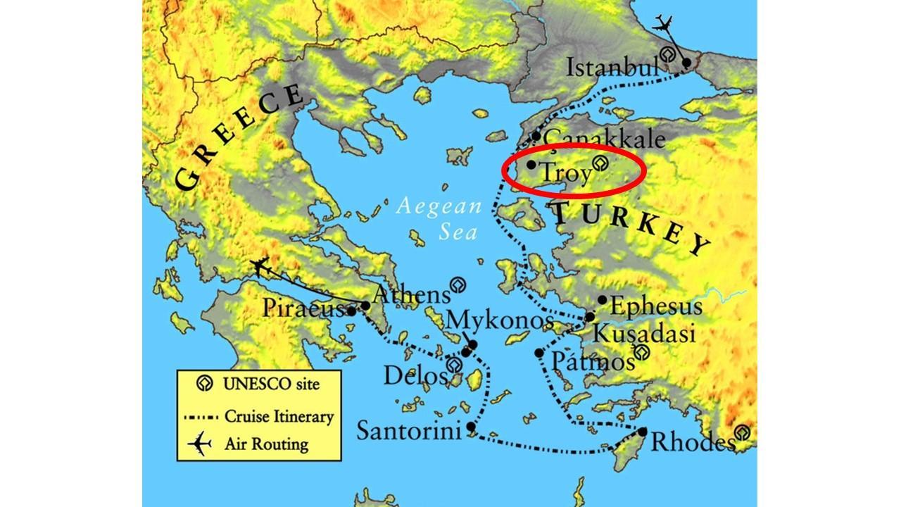 kart over santorini hellas Troy Hellas kart   Kart over Hellas, Troy (Sør Europa   Europa) kart over santorini hellas