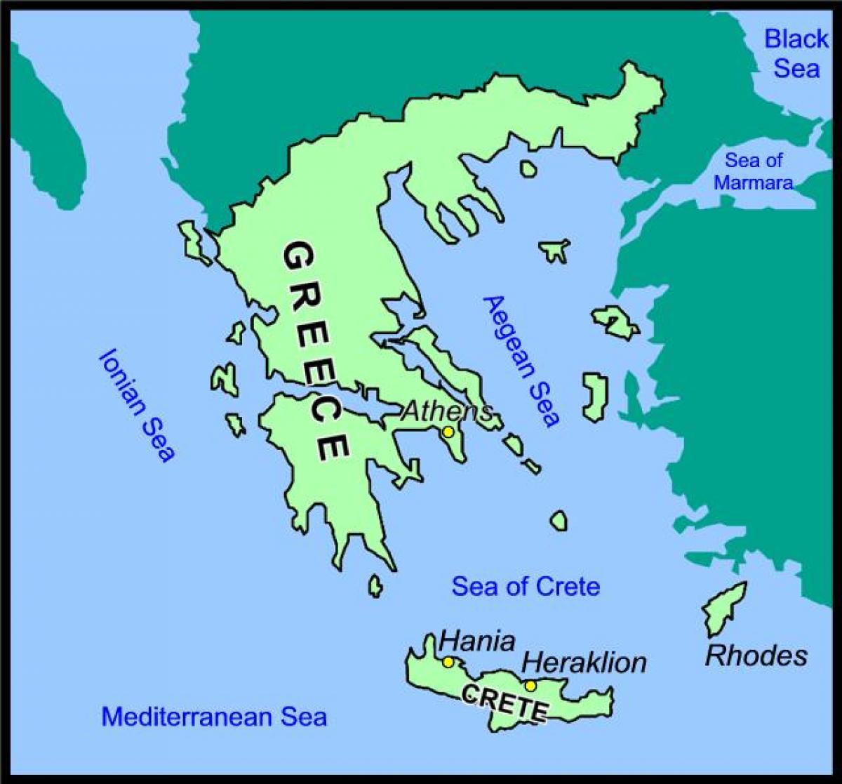 kreta kart norsk Kreta kart Hellas   Kart over Kreta, Hellas (Sør Europa   Europa) kreta kart norsk