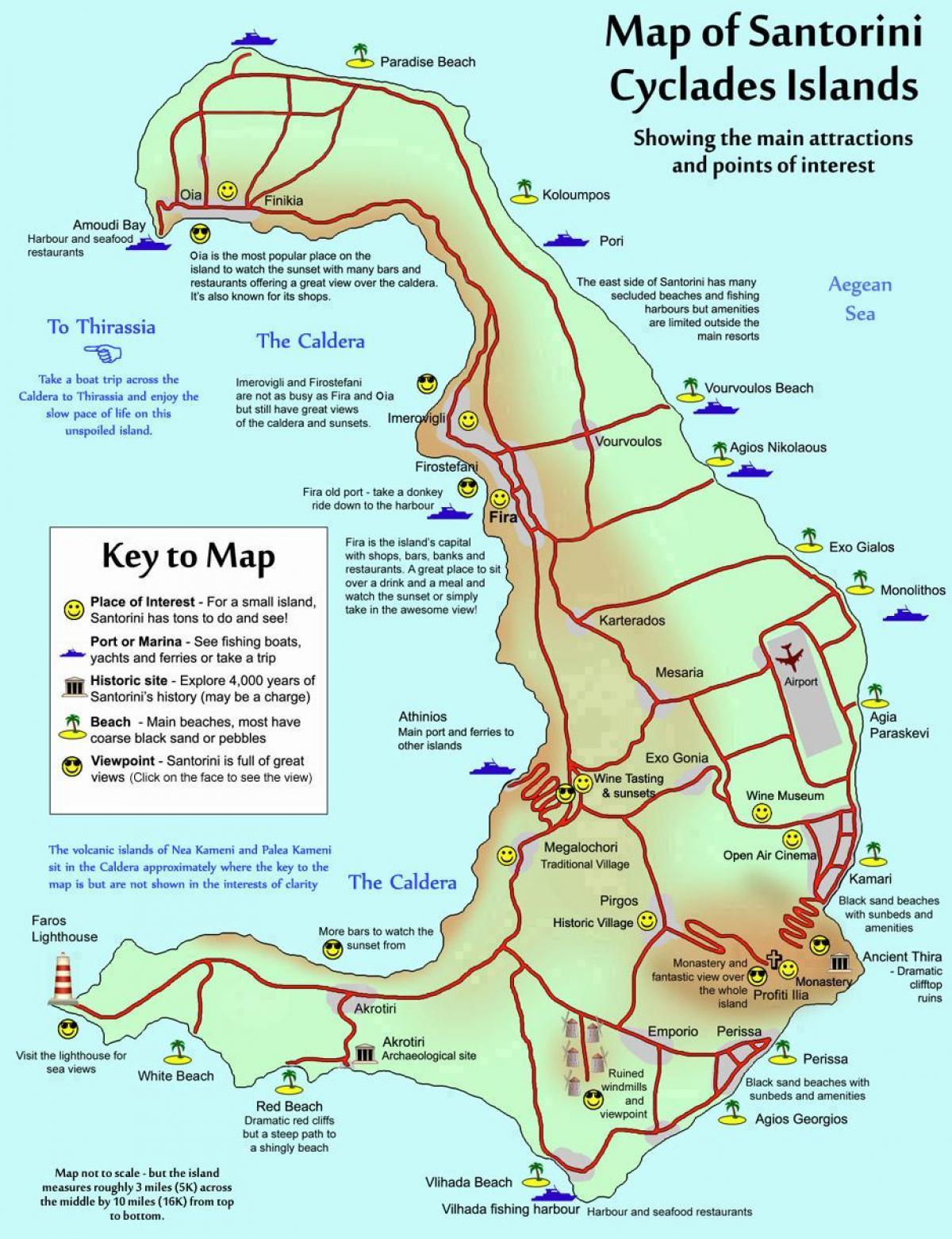 kart over santorini hellas Santorini, Hellas kart   Kart over Santorini, Hellas (Sør Europa  kart over santorini hellas