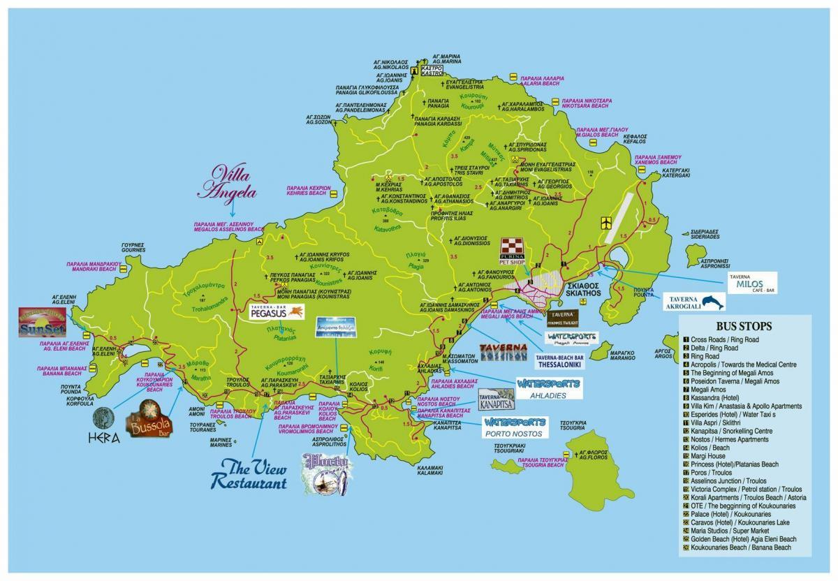 kart hellas Skiathos, Hellas kart   Skiathos kart Hellas (Sør Europa   Europa)