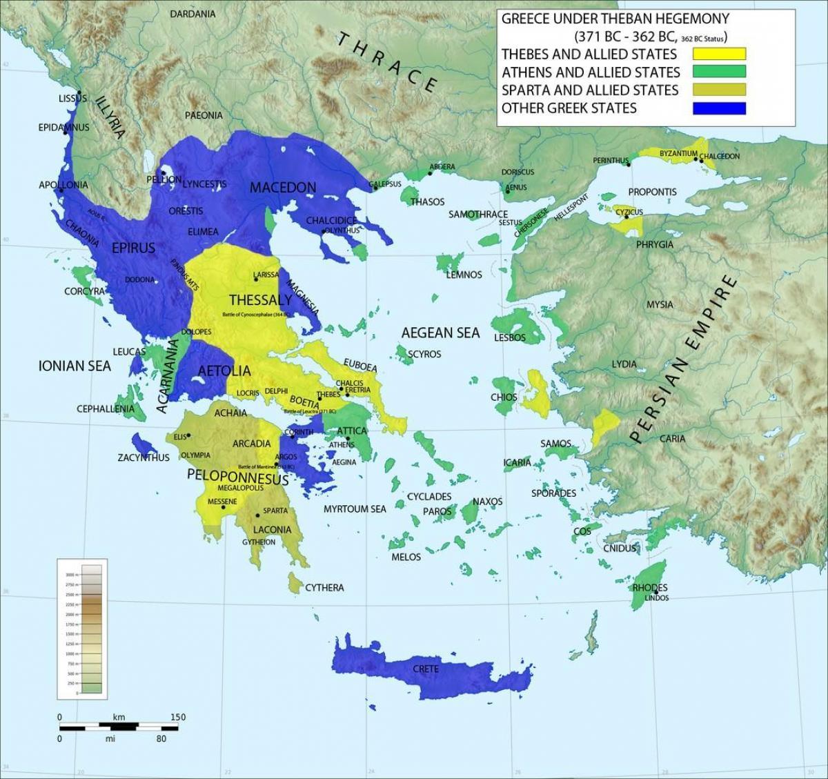 Sparta Kart Hellas Kart Over Hellas Sparta Sor Europa Europa