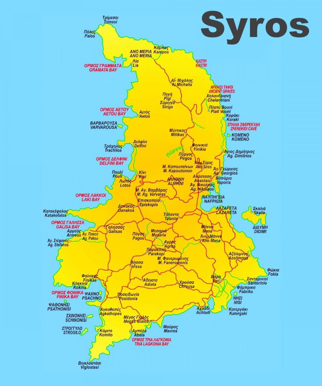 Syros Kart Hellas Syros Island Hellas Kart Sor Europa Europa