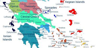 kart over de greske øyene Greske øyer kart   Kart over Hellas og greske øyene (Sør Europa  kart over de greske øyene