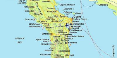 kart over korfu Hellas kart   Kart over Hellas (Sør Europa   Europa) kart over korfu